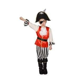 Pretend Deluxe Pirate Boy Toddler Costume Dress Up Set