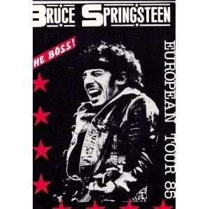Bruce Springsteen European Tour 85 The Boss Postcard  RARE