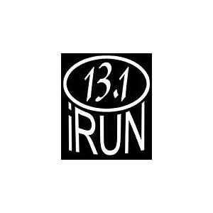 iRun 13.1 Marathon Sticker, White, Die Cut Vinyl