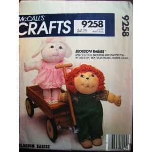 McCalls 9258 Soft Sculptured 16 Animal Dolls with Clothes Cotton