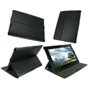rooCASE Slim Fit (Black) Folio Case Cover with Multi