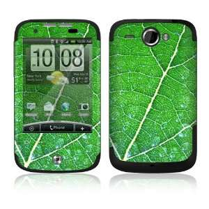 HTC WildFire Decal Skin   Green Leaf Texture Everything