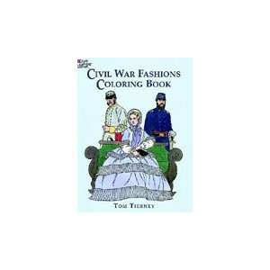 Dover Coloring Book Civil War Fashions Arts, Crafts