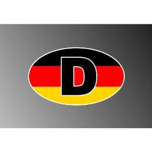 DEUTSCHLAND GERMANY GERMAN EURO STICKER DECAL 3x5