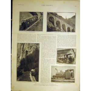 Mountain Railway Switzerland Pilatus Locomotive 1901: Home
