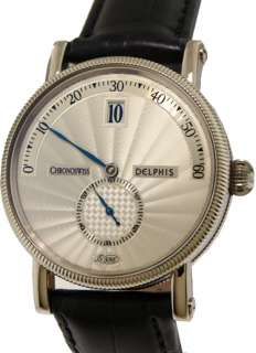 Chronoswiss Delphis Jump Hour 18k White Gold Sub Seconds Automatic