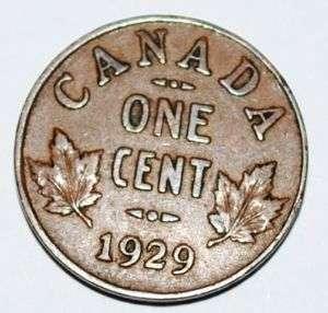 1929 1 Cent Copper Coin