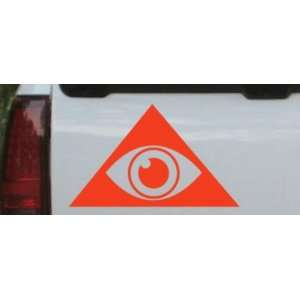 Illuminati Eye Masonic Car Window Wall Laptop Decal Sticker    Red