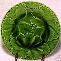 FM287, ANTIQUE FRENCH MAJOLICA PLATE Clairefontaine