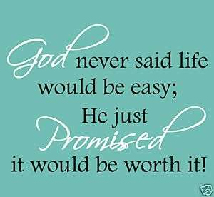 GOD SAID Wall Quote Words Verses Decal + C More N Store