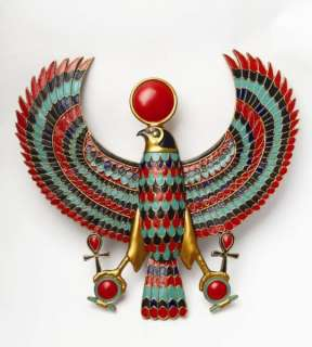 Egyptian God Horus Falcon Wall Plaque Figurine Wings