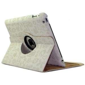 Sanlise(TM) White 360 Degree Rotating Leather iPad 2 Case