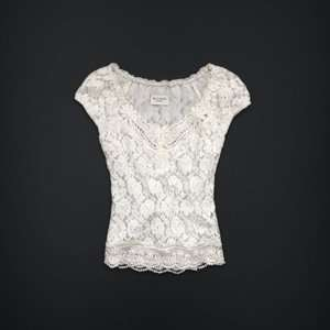 Gilly Hicks Abercrombie & Fitch Point Piper Floral Lace Top Blouse