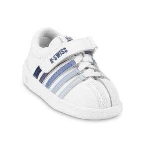 Toddler Kids K Swiss Classic Velcro Sneaker 21277176 White Navy |