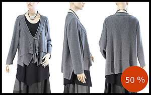ZUZA BART super soft cuddly baby merino wool cardigan M/L gray