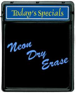 Todays Special Neon Dry Erase Board   Sign