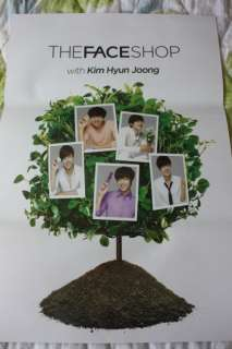 SS501 KIM HYUN JOONG The Face Shop Double Side Poster