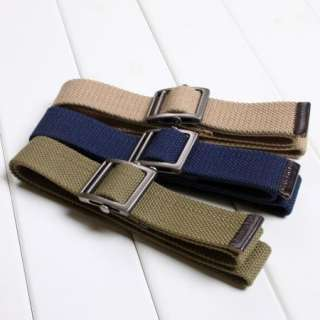 boys move buckle Military Thicker canvas belt
