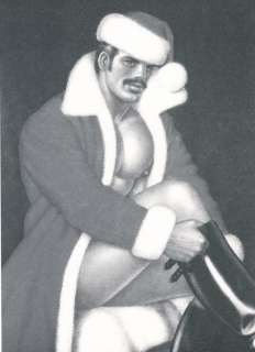 Tom of Finland Homoerotic Santa Matted Paper Print 017