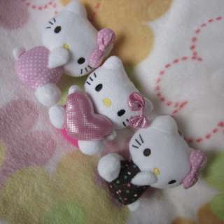 3Pcs New Soft Small HelloKitty Girls Kid Plush Doll Toy Friends Best