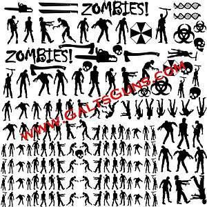 ZOMPAT Zombie Pattern Vinyl Decals DuraCoat Camo Accent Paint Template