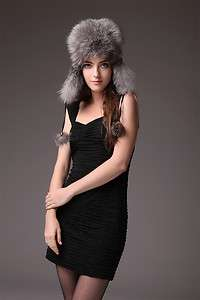0332 0405 0406 Real Fox fur headgear hats trapper hat Helmet cap hat