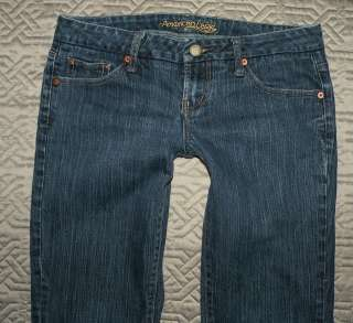 AMERICAN EAGLE SIZE 8 REGULAR STRETCH LOW RISE JEANS