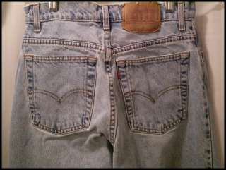 vtg LEVIS 550 RELAXED FIT TAPERED LEG JEANS sz 9 SHORT