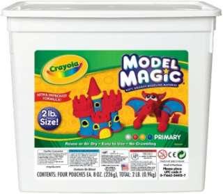 CRAYOLA MODEL MAGIC BIG 2 LB BUCKET TUB Kids Soft Modeling Clay
