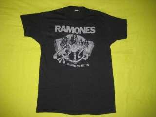 1978 RAMONES VINTAGE TOUR T SHIRT ROAD TO RUIN 70s tee