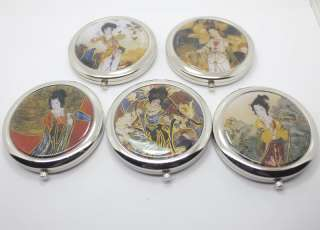 wholesale lots 5pcs makeup tools mirror metal compact Chinese