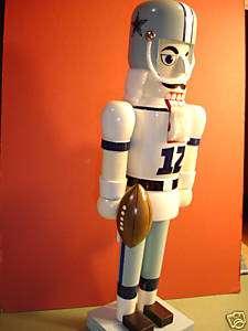 Dallas COWBOYS Nutcracker 14 Wooden NFL New Holiday