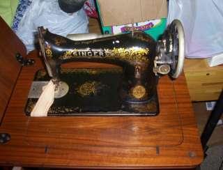 Vintage Singer 2B Sewing machine w/Cabinet