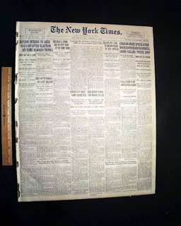 ST. VALENTINES DAY MASSACRE 1929 Gangster Newspaper **