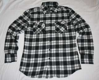 New Mens Truth Soul Armor Live Black/White Flannel Shirt Size Large