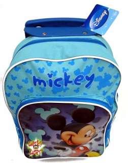 MICKEY MOUSE Ears Trolley Pull Handle Bag Trips School FUN Disney