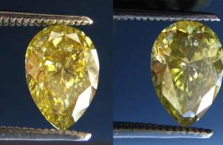 29 ct FANCY GREENISH YELLOW CHAMELEON NATURAL DIAMOND GIA CERT OVAL