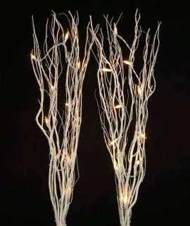 Kurt Adler 36 20 Light 2 Piece Lighted White Twigs CHRISTMAS HOME