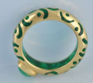 Angelique de Paris Emerald 18k Yellow Gold 750 Ring