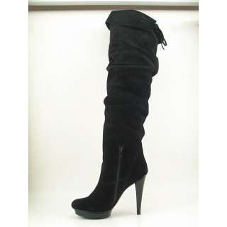 Steve Madden Xenonn Womens SZ 8 Black Boots Over The Knee Shoes