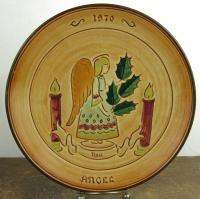 Pennsbury Pottery Yuletide Christmas Angel Plate 1970