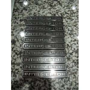 of 10 Qty Police Interceptor Only Car Emblem Chrome Chevy Ford Dodge