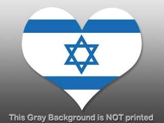 Israel Flag Heart Sticker   decal Israeli Star of David