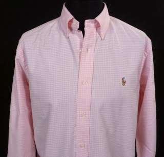 NWT Polo Ralph Lauren Mens Pink Buttondown Dress Shirt