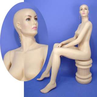 On Sales Brand New Full Size Flesh Tone Sitting Female Mannequin A