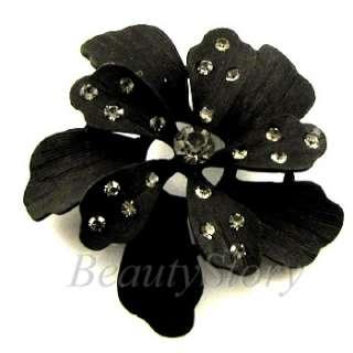 ADDL Item  Austrian rhinestone crystal flower brooch pin