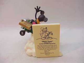 DISNEY BEST OF MICKEY MOUSE ENESCO FIGURINE~PLANE CRAZY