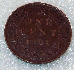 1901 Canada Canadian PENNY 1 one CENT LARGE cent COIN