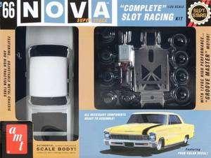 NEW AMT 1/25 1966 Chevy Nova Slot Car Race Kit SCAMT745/12 NIB