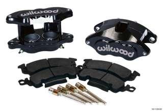 WILWOOD D52 BRAKE CALIPER & PAD SET W/PINS,FRONT,1.28,BLACK,BIG GM